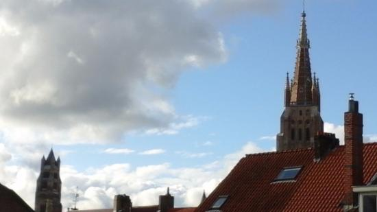 Ibis Brugge Centrum : View from bedroom of two landmarks