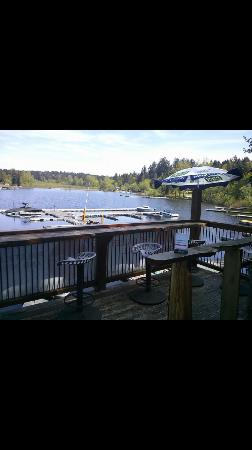 Lac Shawinigan, Canada : Outdoor seating
