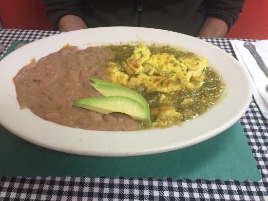 Bradley Beach, NJ: Mexican Hot Eggs ( green sauce )