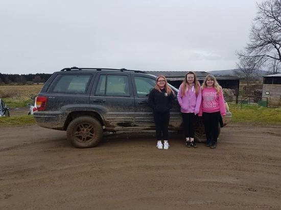 Gartmore, UK: At the end after the three of them had a drive