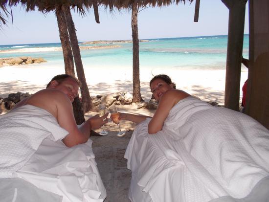 Couples massage love