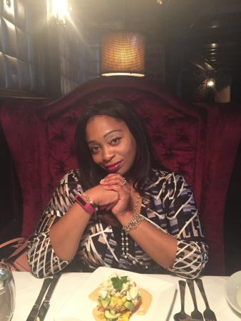 Ruth's Chris Steak House: Me about to devour the crab stack