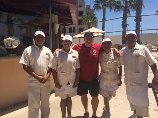Pueblo Bonito Pacifica Golf & Spa Resort: Great pool service! Jovany, Sandra, Blanca and Juan. Missing Lilia, Misael, Alexis and Samuel.