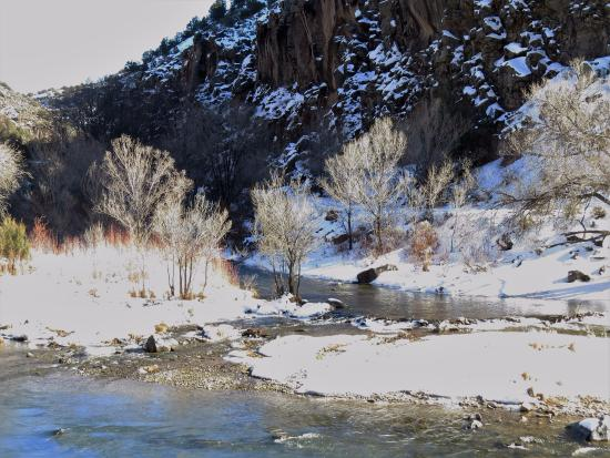 Another view of where the Arroyo Hondo comes into the Rio Grande