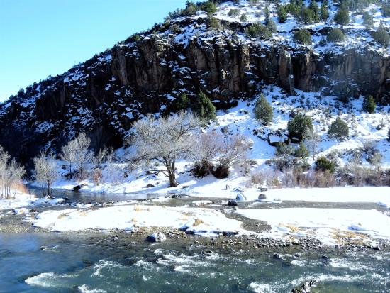 Arroyo Hondo, NM: Rio Grande River right by the Dunn Bridge