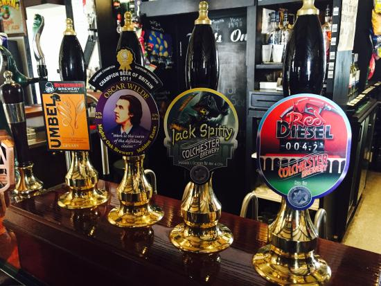 Thaxted, UK: Local real ales
