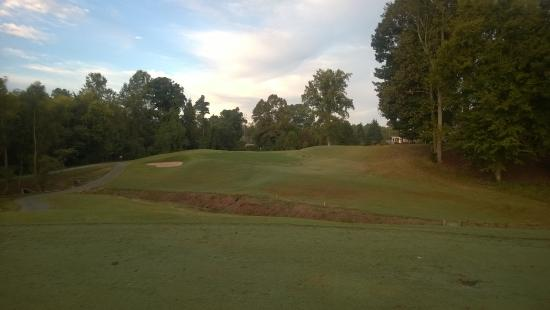 Mebane, NC: #1 green from the fairway
