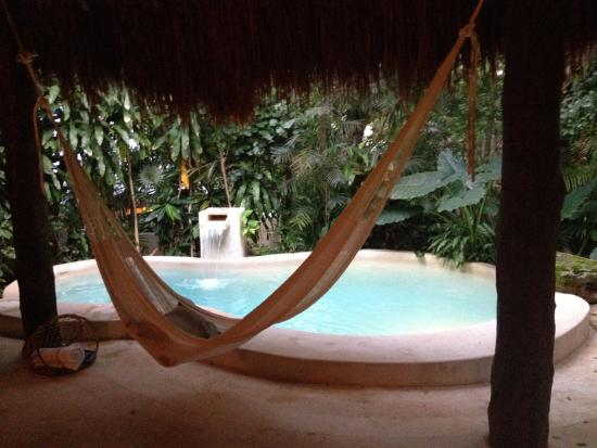 Viceroy Riviera Maya: Private pool and hammock outside room