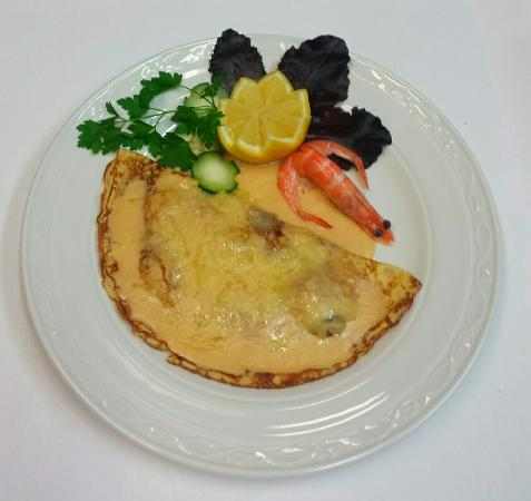 Restaurant Can Pere: Seafood pancake