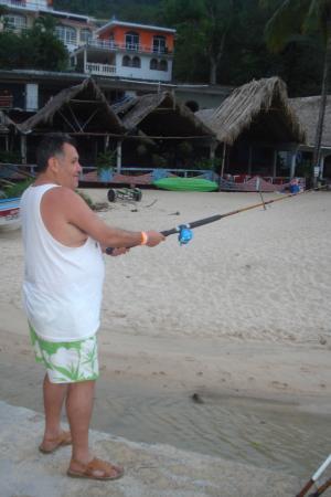 Casa Iguana Hotel: pescando en mismaloya