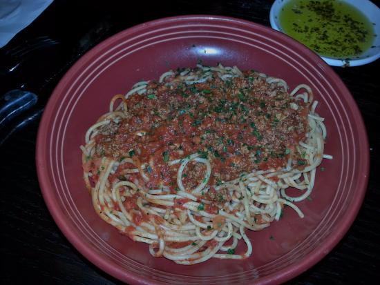 Pasadena, MD: Spaghetti with meat sauce never disappoints