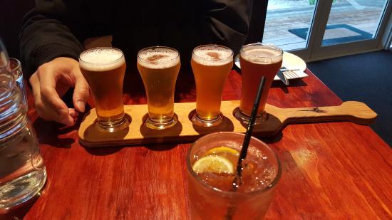 Cowes, أستراليا: Beer tasting board