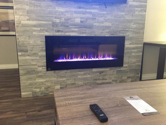 flat screen tv and electric fireplace heater king suite picture rh tripadvisor ca