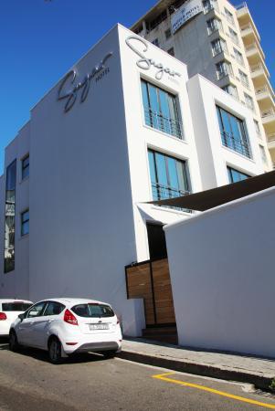 exterior of hotel looking from the corner of main road and boundary rh tripadvisor co za