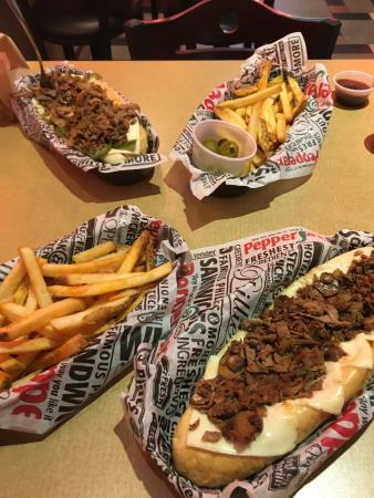 Pepperjax Grill: Steak Philly Sandwiches with Fries