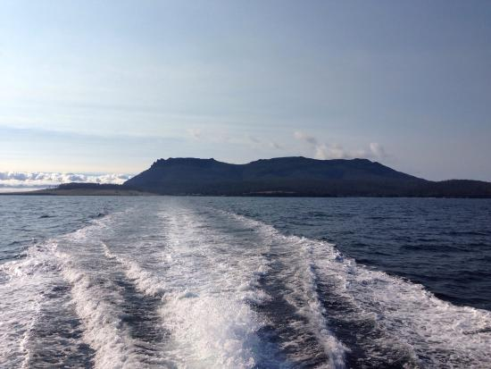 Triabunna, Австралия: Leaving the island behind in our wake :)