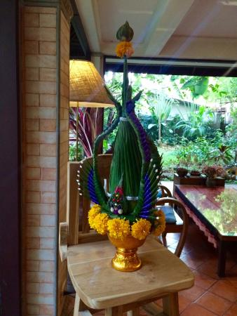 Santitham Guest House: Traditional decor dotted throughout...
