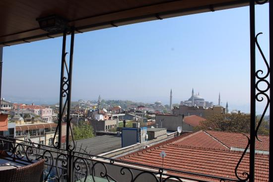 Nena Hotel: view of the hagia sofia from the rooftop terrace