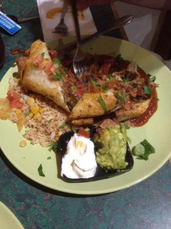 Mis Amigos Pan Fried Beef Enchilada