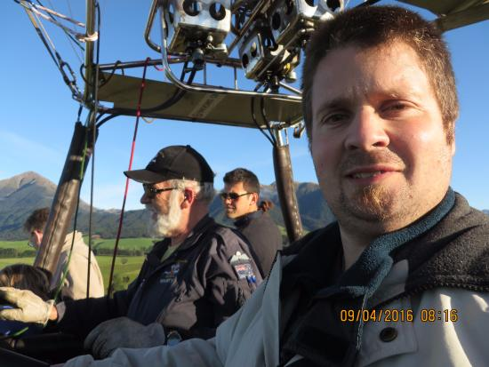 Methven, Neuseeland: Our pilot Martin explains the lay of the land and landmarks