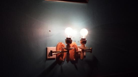 d'Village Resort : the bees surrounding the wall lights!