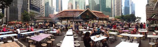 Singapore, Singapore: Fermeture de Boon Tat St pour y installer des tables