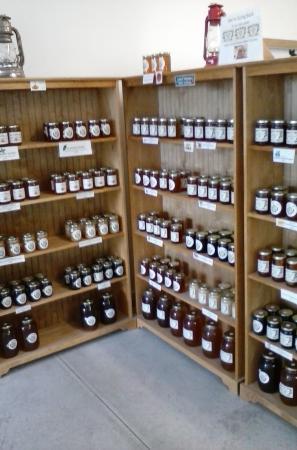Honey Brook, PA: Inside the shop: 25 varieties of raw honey.