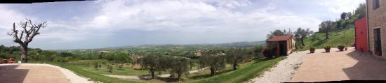 Montegridolfo, Italia: Non ci sono le parole per descrivere questa vista mozzafiato