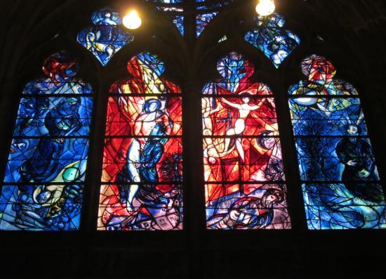 Vitraux Metz metz - vitrail de chagall (autres détails) - picture of metz