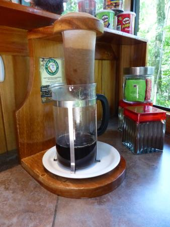 Hidden Canopy Treehouses Boutique Hotel: in room coffee
