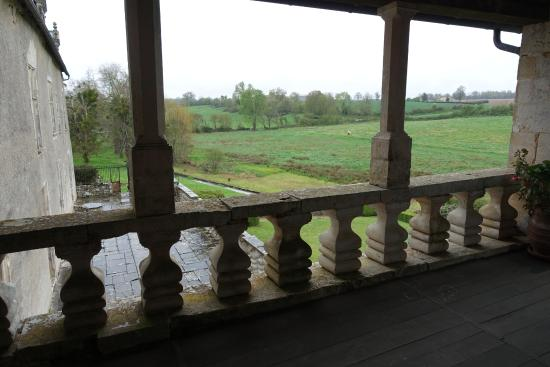 Château de Cibioux : Vue du balcon