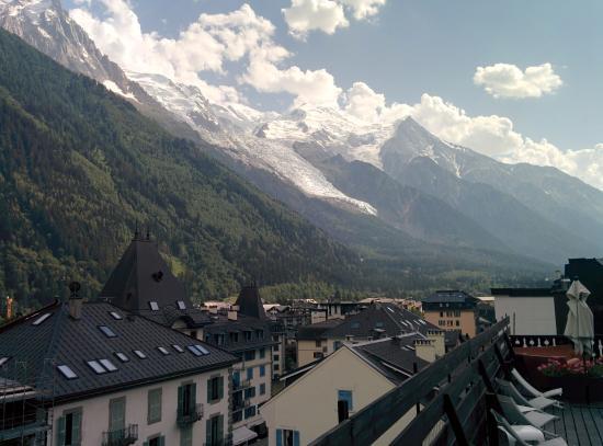 Park Hotel Suisse & Spa: La vue de la terrasse du spa