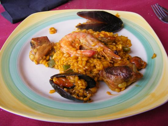 El Poble Nou del Delta, España: Paella mixta (primer plato...)