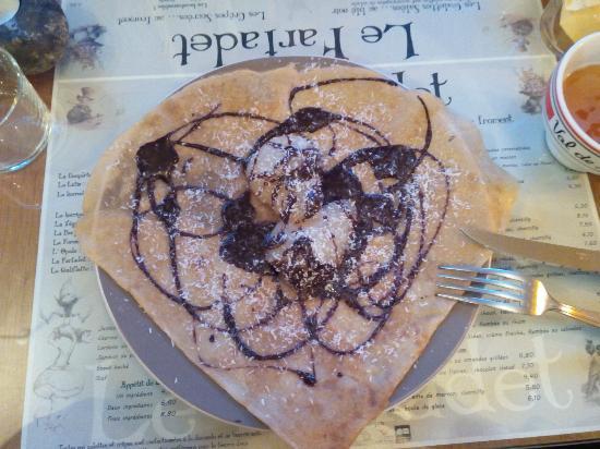 Gourette, France : Crêpe chocolat noix de coco