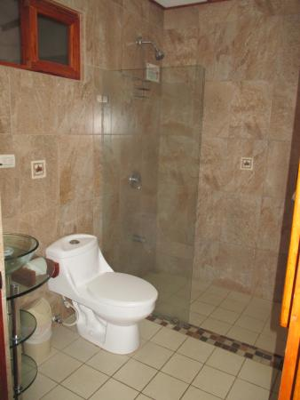 small bathroom but large shower picture of hotel la rosa de rh tripadvisor com