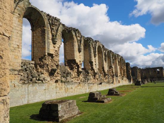 Coxwold, UK: Remaining wall