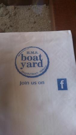 The Boat Yard : nombre del lugar