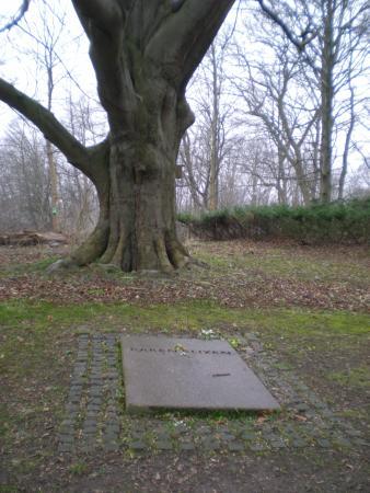 Rungsted, Dinamarca: Lápida de la tumba de Karen Blixen