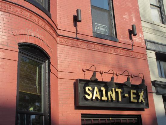 sign from 14th street picture of cafe saint ex washington dc rh tripadvisor com
