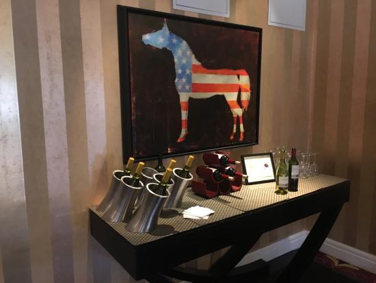 Monaco Baltimore, a Kimpton Hotel: [free] Wine set up during happy hour