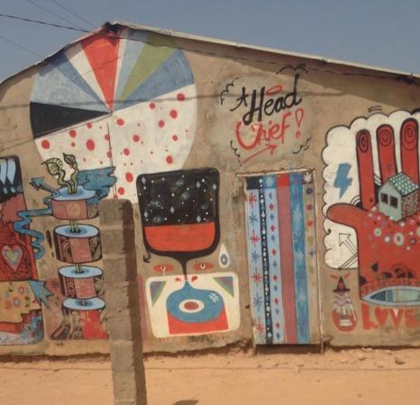 Gunjur, Gambia: Open wall project