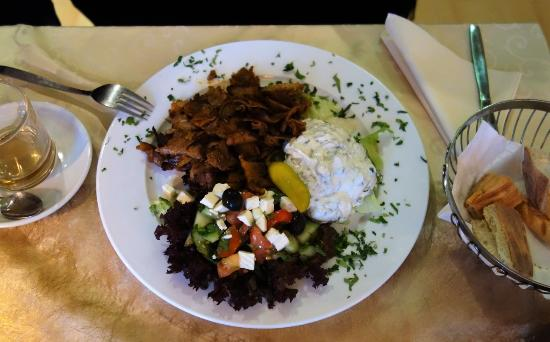 Linsengericht, Tyskland: Gyros mit Brot