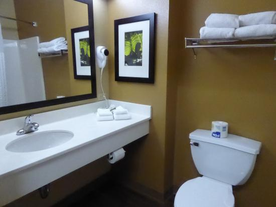 Extended Stay America - Nashville - Vanderbilt : Bathroom. Decent amount of towels.
