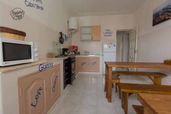 guest kitchen picture of praiadise hostel praia tripadvisor rh tripadvisor com