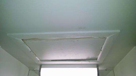 Motel 6 Harrisonburg - South: access door? to attic area... paint falling off