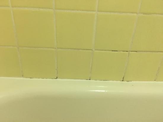 poor and open silicone grout repair with black mold picture of rh tripadvisor co za