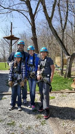 Great time ziplining at Skyward Adventures in Brookville Indiana
