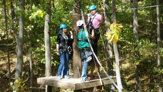 Awesome zip line in Brookville Indiana