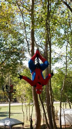 Superhero zip line in Brookville Indiana