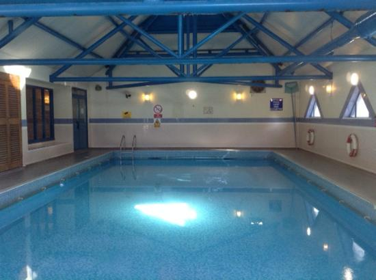 The pool is a decent size clean and not used very much - Hotels in bournemouth with swimming pool ...